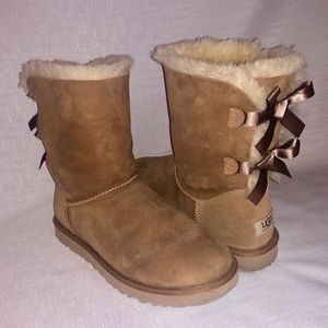 UGG Woman's Bailey Bow Boot Wool Blend